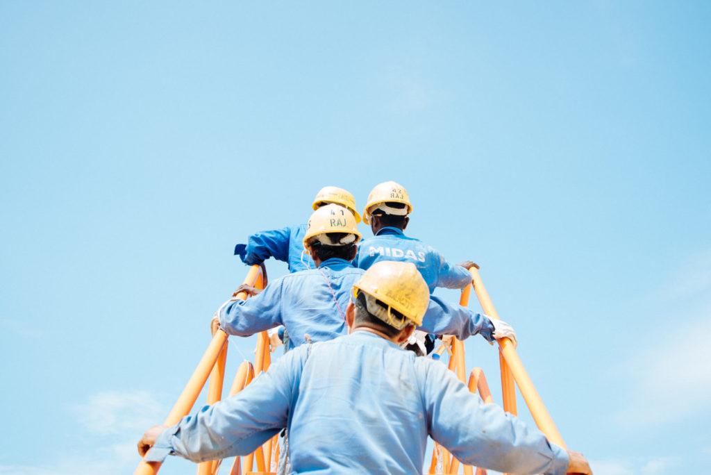 dělníci, bezpečnost práce